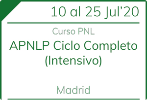 Curso intensivo PNL en Madrid Julio 2020